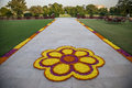 Flower Decorations On The Road In India Stock Image - 42980451