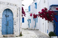 Blue Doors, Window And White Wall Of Building In Sidi Bou Said Stock Images - 42981594