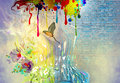 Abstract Art Picture With Bird Royalty Free Stock Photos - 42985158