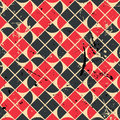 Geometric Vintage Seamless Pattern With Aged Grunge Texture. Royalty Free Stock Photo - 42985355