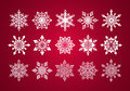 Set Of Various Fine Lace Snowflakes For Christmas Stock Image - 42987021