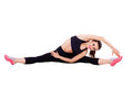 Beautiful Woman Dressed For Fitness Doing Stretching Exercises Stock Photos - 42998423