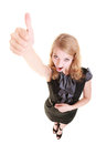 Success. Businesswoman Woman Showing Thumb Up Stock Photo - 42999160