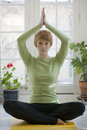 Pretty Young Woman Practicing Yoga Royalty Free Stock Image - 4300986
