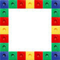 Colored Block Square Frame Stock Image - 4301531