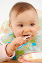 Eating Baby Girl Royalty Free Stock Photography - 4305417