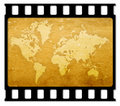 35mm Slide Frame With Map Stock Photo - 4306950