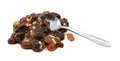 Heap Of Mincemeat Mixture With A Metal Teaspoon Royalty Free Stock Photo - 43011245