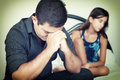 Worried Father With Her Troubled Teenage Daughter Stock Images - 43022174