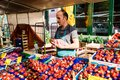 Greengrocer At The Old Fish Market By The Harbor In Hamburg, Germany Stock Photography - 43027712