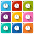 Clock Icons Stock Image - 43031761