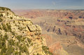 Rocky Ledges And Small Shrubs At The South Rim Of The Grand Canyon, Arizona Stock Image - 43034711