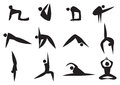 Yoga Icon Man Royalty Free Stock Images - 43038199