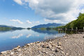 Derwent Water Lake District Cumbria England Uk South Of Keswick Blue Sky Beautiful Calm Sunny Summer Day Stock Image - 43051721