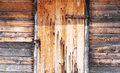 Wooden Wall And Doors Locked Royalty Free Stock Image - 43069716