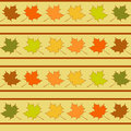 Maple Leaf In Rows Seamless Pattern, Leaves Wallpaper Stock Images - 43072974