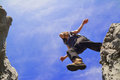 Woman Jumping Stock Images - 43076484