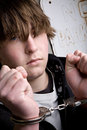 Teen In Handcuffs - Crime Royalty Free Stock Photo - 4318225