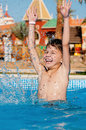 Boy In Pool Royalty Free Stock Photo - 43101505