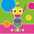 Cute Robot Greeting Card Royalty Free Stock Photography - 43108797