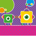Cute Robot Greeting Card Stock Photography - 43108812