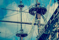 Old Vintage Ship Masts Royalty Free Stock Photo - 43115295
