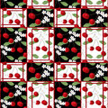 Patchwork Abstract Seamless Floral Cherry Pattern Background Royalty Free Stock Images - 43115749