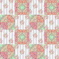 Patchwork Abstract Seamless Floral Pattern Background Royalty Free Stock Photography - 43115817