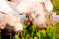 Happy Young Adult Couple In Love On The Field. Two,  Man And Wom Royalty Free Stock Photos - 43120428