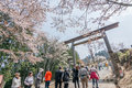 Tourists Walking Toward Yoshino Mountain Stock Images - 43153574