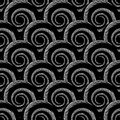Design Seamless Monochrome Spiral Pattern Royalty Free Stock Photos - 43160128