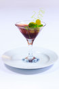 Summer Menu.Jelly Dessert With Grapes Stock Image - 43160561