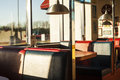 American Diner Interior At Sundown Royalty Free Stock Photo - 43172135