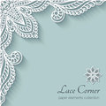 Paper Lace Corner Stock Photography - 43174712