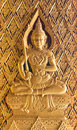 Wood Carving Buddhist Temple Door Public Places Of Buddhist Wors Royalty Free Stock Images - 43178409