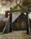 Gate To Old Settlement Royalty Free Stock Photography - 43192027