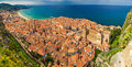 Village Cefalu From Above Stock Photo - 43211190