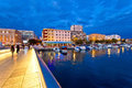 Blue Hour Zadar Waterfront View Stock Photography - 43214862
