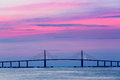 Sunshine Skyway Bridge At Dawn Stock Photo - 43221910
