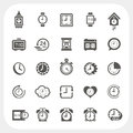 Clock Icons Set Royalty Free Stock Photo - 43231465