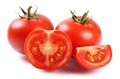 Red Fresh Tomatoes Isolated On White Stock Photography - 43240012