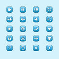 Set Of Mobile Blue Vector Elements For UI Game Design Stock Image - 43242131
