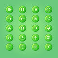 Set Of Mobile Bright Green Vector Elements For UI Game Design Stock Photo - 43242190