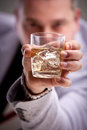 Glass Of Alcoholic Drink In Man S Hand Stock Images - 43255074
