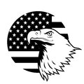 American Eagle Against USA Flag. Stock Photography - 43263802