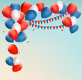 Retro Holiday Background With Colorful Balloons. Royalty Free Stock Image - 43289026