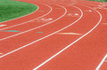 Curve On A Athletics Running Track Stock Photography - 43290102