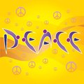 Peace Letters And Peace And Love Symbols Stock Photo - 43296230