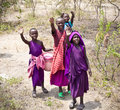 African Kids Of Masai  Tribe Village. Tanzania. Royalty Free Stock Photos - 43321208