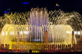 Fountain Lights In Barcelona Royalty Free Stock Photography - 43324717